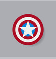 shield with a star superhero shield vector image