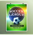 soccer league presentation flyer vector image vector image