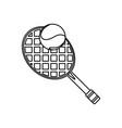 sport tennis racket vector image vector image