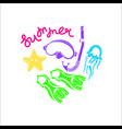 symbol summer sea diving baswim vector image