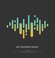 the image sound wave vector image