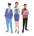 three office workers employees managers vector image vector image