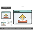 Upload file line icon vector image vector image