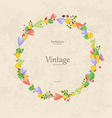 vintage wreath with sweet crocus for your design vector image vector image