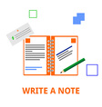 write a note vector image vector image