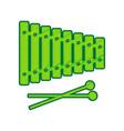 xylophone sign lemon scribble icon on vector image vector image