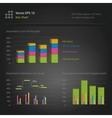 infographics bar chart vector image