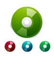 Colorful cd icon set vector image