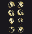 earth travel and navigation icons vector image