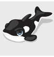 Black-and-white orca with blue eyes vector image