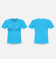 blue t-shirt template isolated on background mens vector image