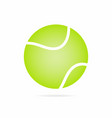 tennis ball icon with shadow isolated on white vector image