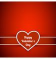 Valentine day invitation card vector image