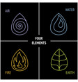 4 elements nature vector image vector image