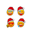 4 emoticon christmas vector image
