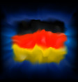 abstract flag germany on blue background vector image vector image