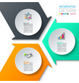 abstract infographics on graphic art vector image