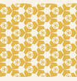 abstract seamless yellow geometric pattern vector image