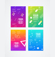 abstract trendy geometric style element banner ad vector image vector image