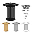 antique column icon in cartoon style isolated on vector image vector image