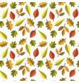 autumn seamless pattern background leaves ornament vector image vector image
