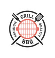 barbecue and grill label bbq emblem and badge vector image vector image