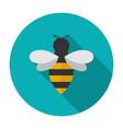Bee icon flat vector image vector image