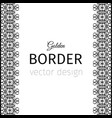 black vertical geometrical style border vector image