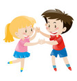 boy and girl dancing together vector image
