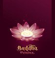 buddha purnima vesak day lettring text greeting vector image
