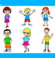 cartoon teens and children characters set vector image vector image