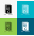 categories check list listing mark icon over vector image vector image