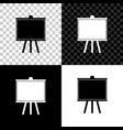chalkboard icon isolated on black white and vector image