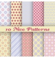 Charming different seamless patterns tiling vector image vector image