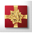 Christmas gift with gold bow design