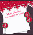 christmas pattern knit card template for new year vector image vector image