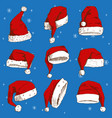 Christmas santa claus hat noel isolated