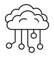 cloud ai icon outline style vector image vector image
