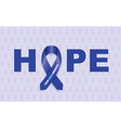 colon cancer ribbon vector image vector image