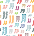 Colorful socks seamless pattern vector image vector image