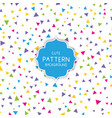 cute triangle pattern background vector image vector image