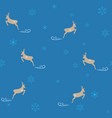 deer and snowflake seamless pattern fashion vector image vector image