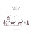 deer forest vector image vector image