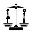 divorce - man woman icon vector image vector image