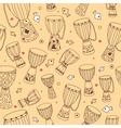 djembe seamless pattern vector image