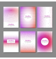 dotted flyer design template brochure cover book vector image