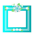 floral frame with lines and flowers empty banner vector image vector image