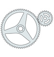 Gear pair vector image vector image