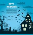 halloween night background vector image