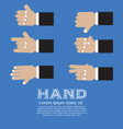 Hand Signs Set EPS10 vector image vector image